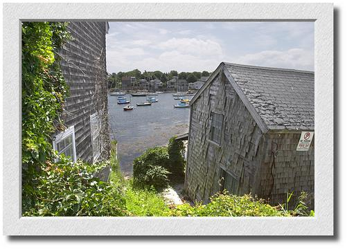 View between the houses, Bearskin Neck